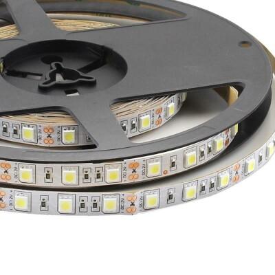Tira LED Monocolor HQ SMD5050, DC12V, 5m (60 Led/m) - IP20, Azul