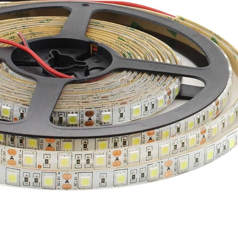 Tira LED HQ SMD5050, DC12V, 5m (60 Led/m) - IP65, Blanco neutro