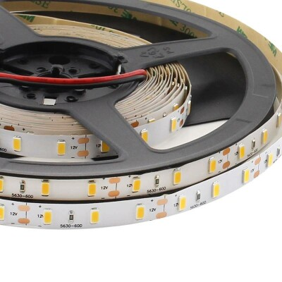 Tira LED Monocolor HQ SMD5630, ChipLed Samsung, DC12V, 5m (60Led/m) - IP20, Blanco neutro