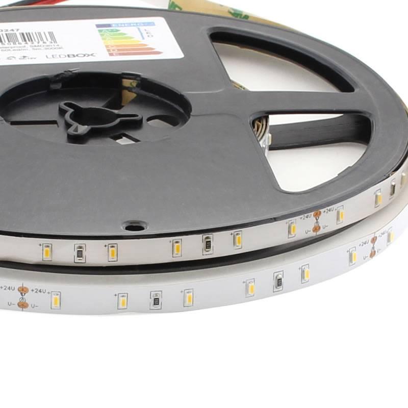 Tira LED Monocolor SMD3014, DC24V, 5m (60 Led/m) - IP68 nano waterproof
