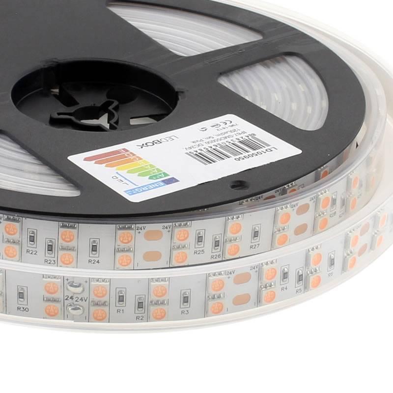 Tira LED SMD5050, DC24V, 5m (120 Led/m), ROSA - IP67