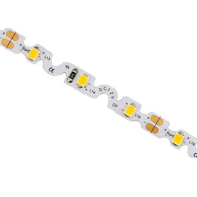 Tira contorno Zig Zag S LED SMD2835, DC12V, 5m, (60Led/m) - IP65, Blanco frío
