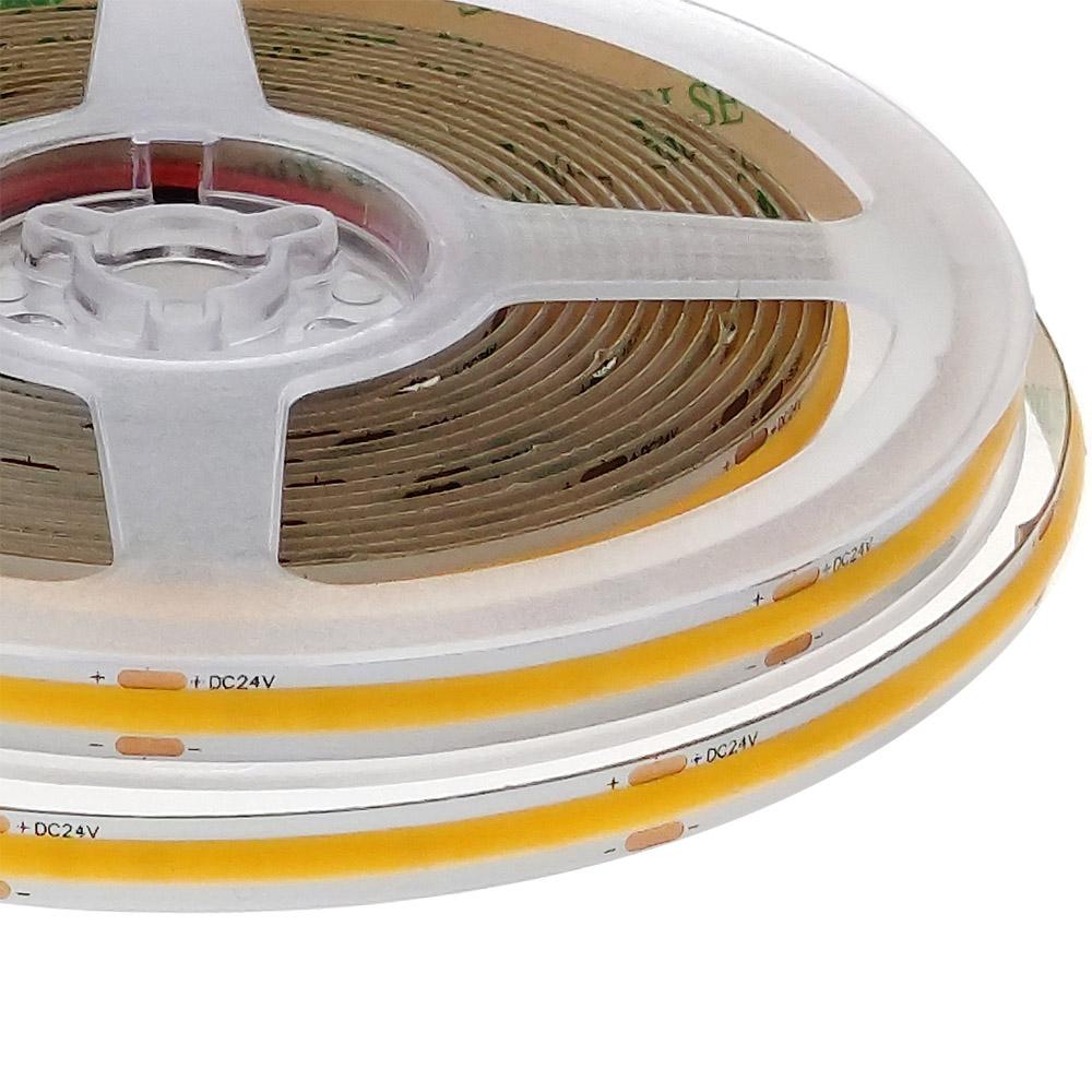 Tira LED Monocolor COB, ChipLed Epistar, DC24V, 5m (480Led/m), IP20