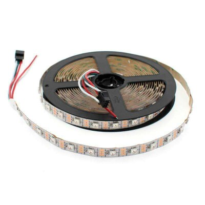 Tira LED IC Digital 2812, RGBX, DC5V, 5m, (60 Led/m) IP20, RGB