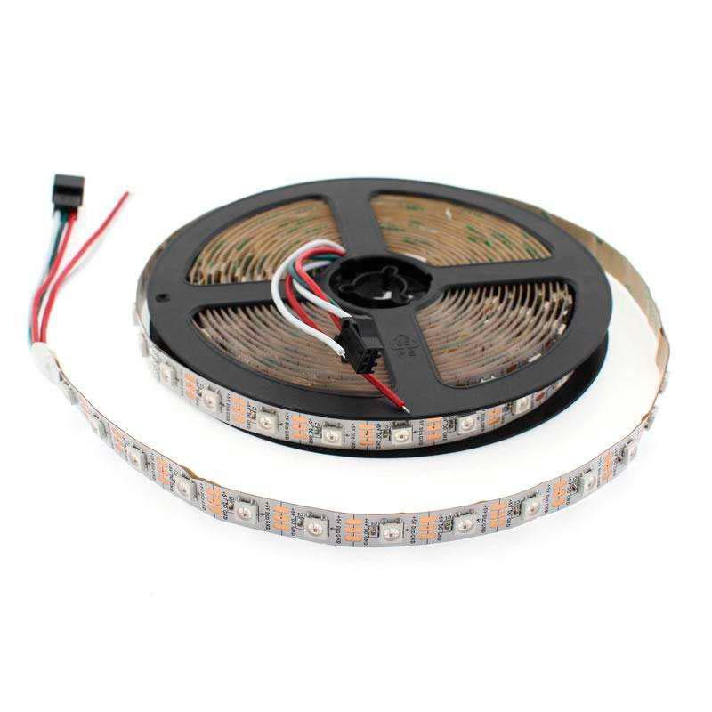 Tira LED IC Digital 2812, RGBX, DC5V, 5m, (60 Led/m) IP67