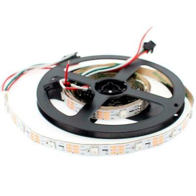 Tira LED IC Digital 2812B, RGBX, DC5V, 5m, (30 Led/m) IP20, RGB