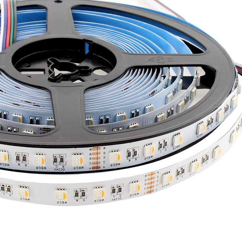 Tira LED EPISTAR SMD5050, RGB+NW, DC24V, 5m (60Led/m 4 en 1) - IP20