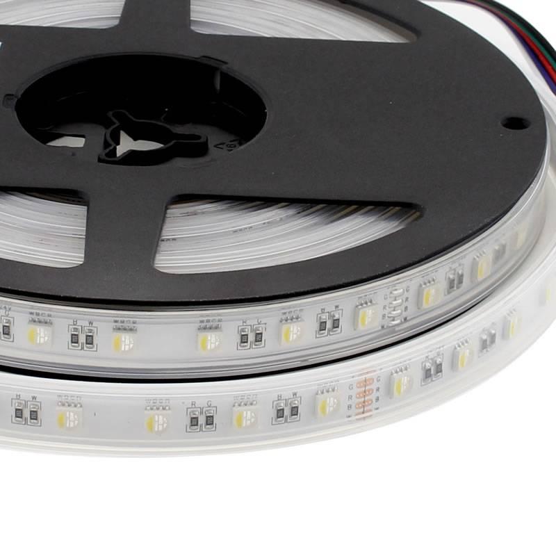 Tira LED EPISTAR SMD5050, RGB+W, DC24V, 5m (60Led/m 4 en 1) - IP67