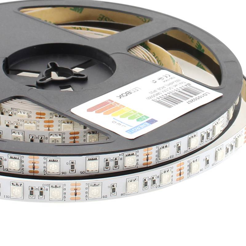 Fita LED EPISTAR SMD5050, RGB, DC12V, 5m (60Led/m) - IP20