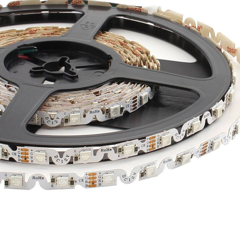 Tira contorno LED SMD5050, RGB, DC12V, (48Led/m) - IP20