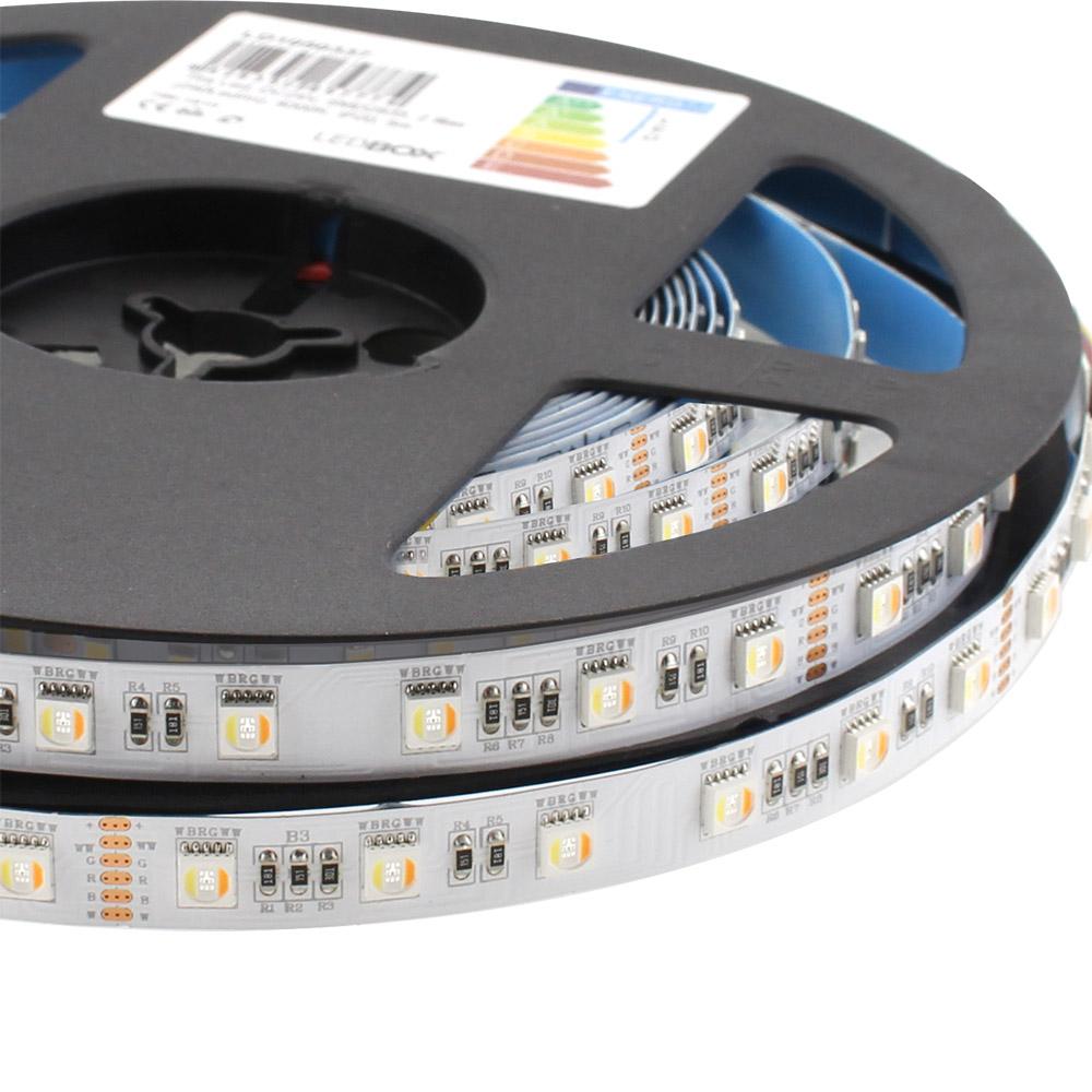 Tira LED SAMSUNG SMD5050, RGB+CCT, DC24V, 5m (60Led/m 5 en 1) - IP20