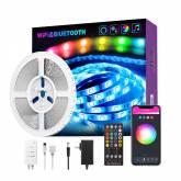 Kit fita LED DC12V, 300 led, 2x5m, RGB, WiFi + Bluetooth