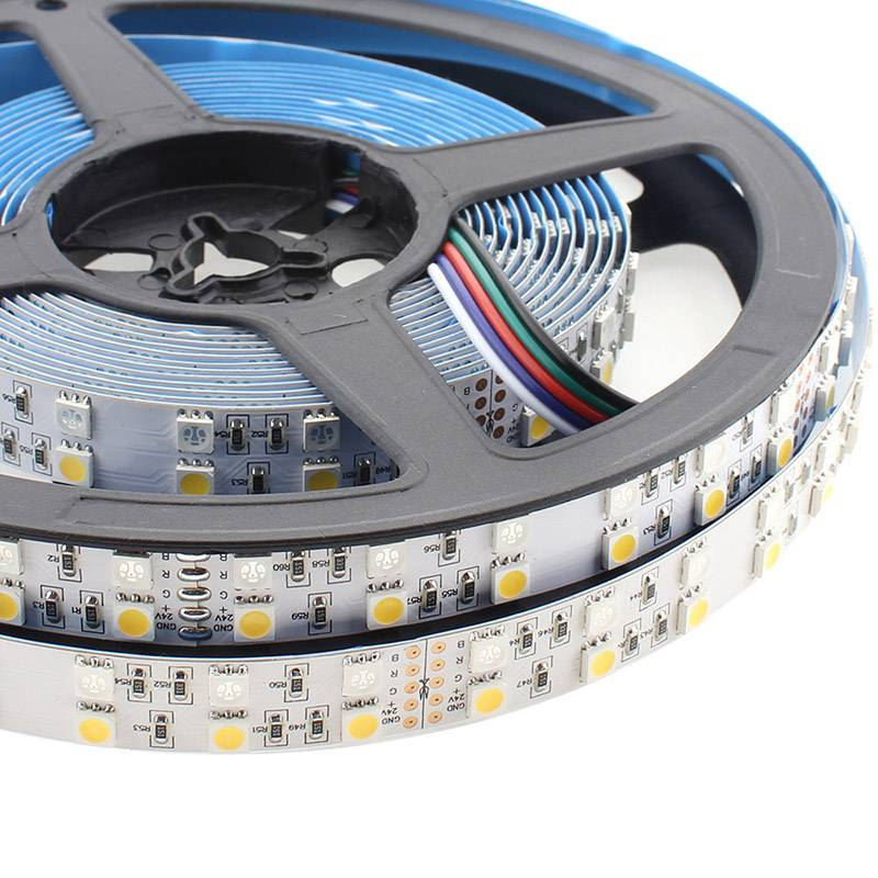 Tira LED EPISTAR SMD5050, RGB+NW, DC24V CC, 5m (120Led/m) - IP20