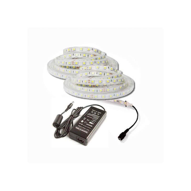 KIT tira LED flexible SMD5050, 5m (60 Led/m) - IP65
