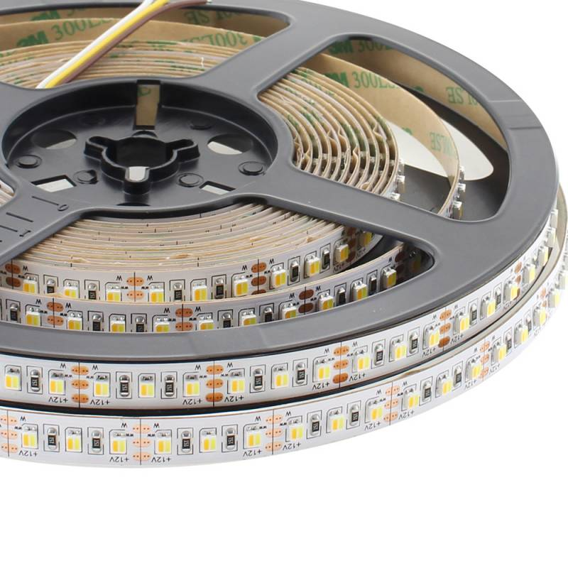 Tira LED Blanco Dual SMD3528, DC12V, 5m (240 Led/m) - IP20