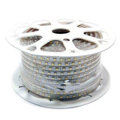 Tira LED 220V SMD5050, 60Led/m, carrete 50 metros, Azul