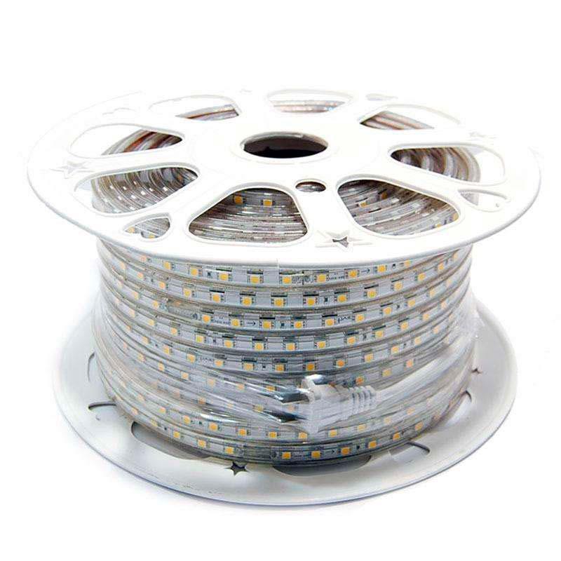 Tira LED 220V SMD5050, 60Led/m, carrete 50 metros