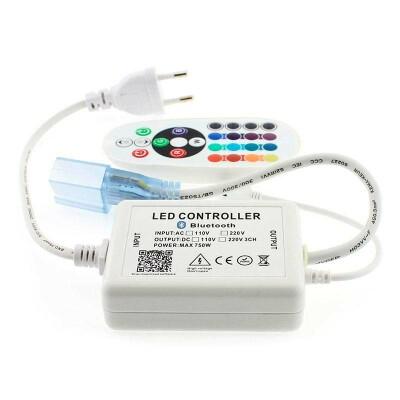 Controlador Bluetooth tira led 220V RGB 750W
