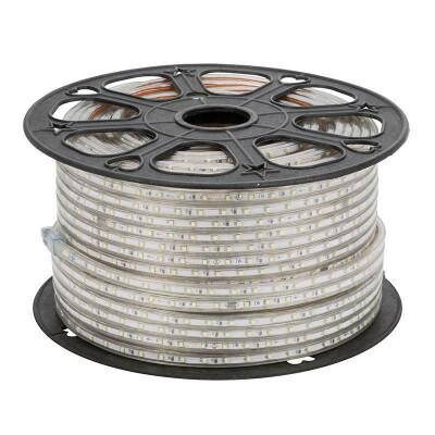 Tira LED 220V SMD2835, 120Led/m, carrete 50 metros con conectores rápidos, 50cm corte, Verde