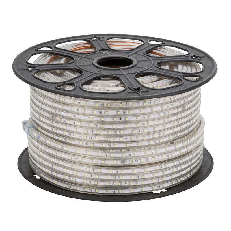 Tira LED 220V SMD2835, 120Led/m, carrete 50 metros con conectores rápidos, 50cm corte