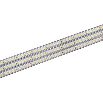 Tira LED 220V SMD2835, 75Led/m,  1 metro con conectores rápidos, 20cm corte, Blanco cálido 2700K