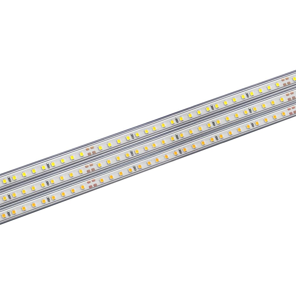 Tira LED 220V SMD2835, 75Led/m,  1 metro con conectores rápidos, 20cm corte
