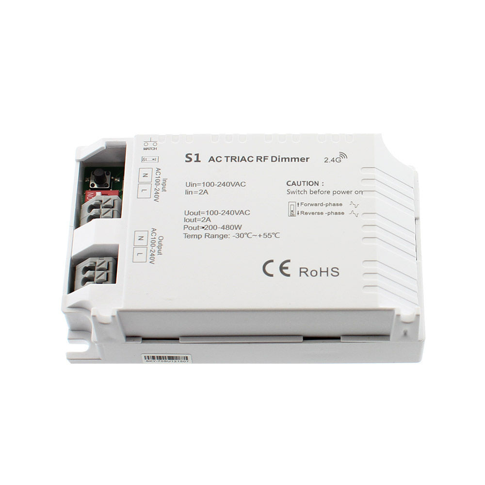 Regulador TRIAC Dimmer S1, 220V, RF
