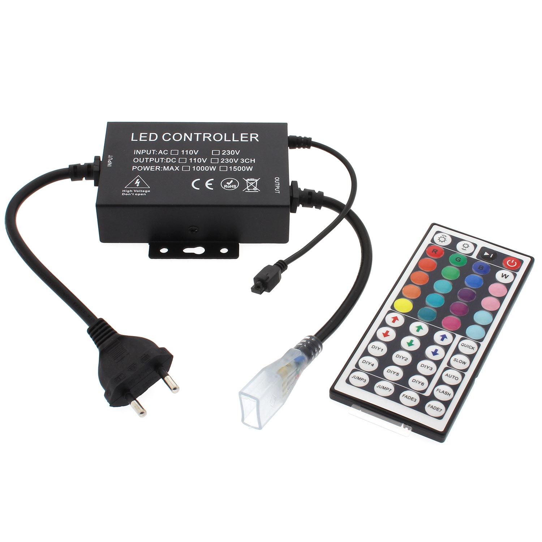 Controlador IR fita led 220V RGB 1500W, IP65