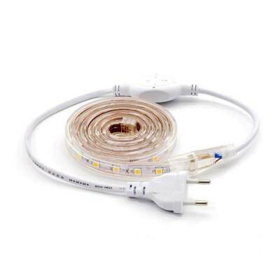 KIT Tira LED 220V SMD5050 EPISTAR, 60LED/m 1 metro, Verde