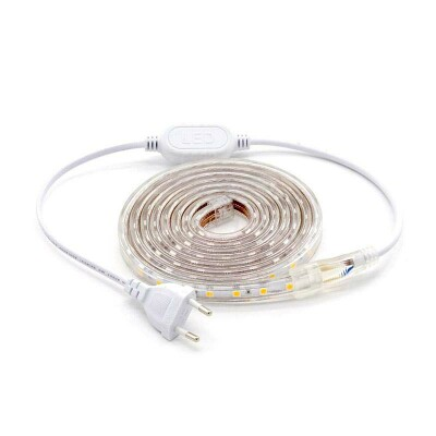 KIT Tira LED 220V SMD5050 EPISTAR, 60LED/m 2 metros, Blanco frío