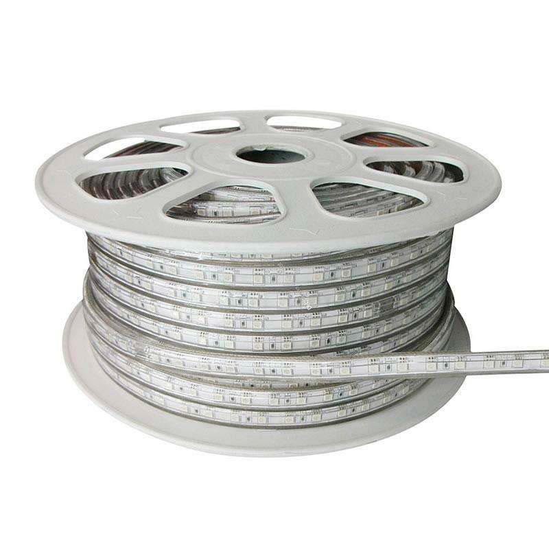 Fita LED 220V SMD5050, 60Led/m, RGB, bobina 50 metros