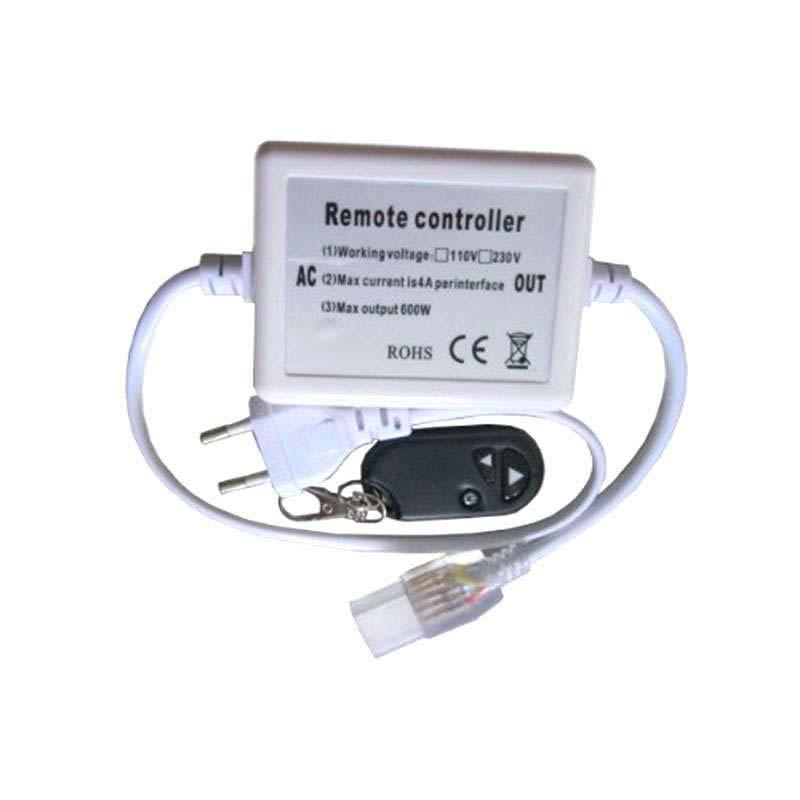 Controlador dimmer RF tira led 220V monocolor 600W