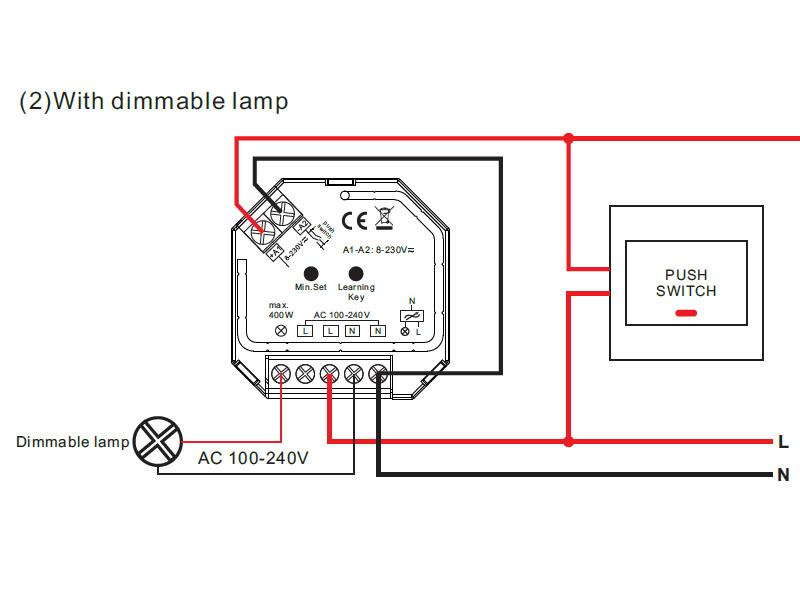 Regulador TRIAC Dimmer 220V, RF-WiFi - - Tiras LED