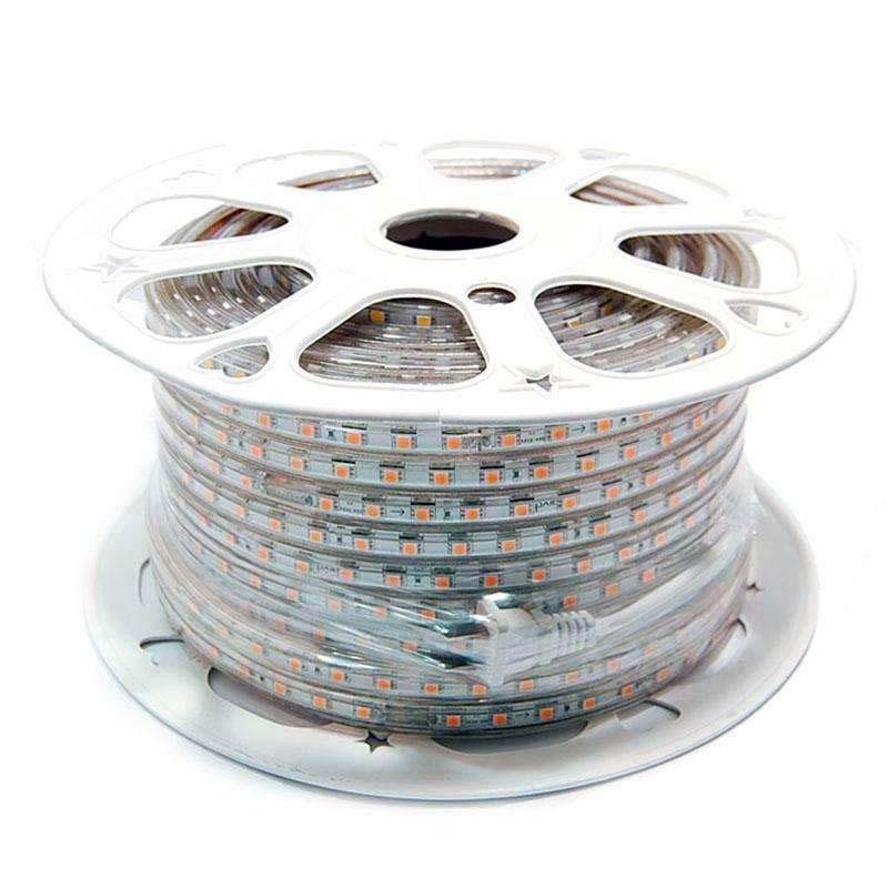 Tira LED 220V SMD5050, 60Led/m, carrete 50 metros, PINK