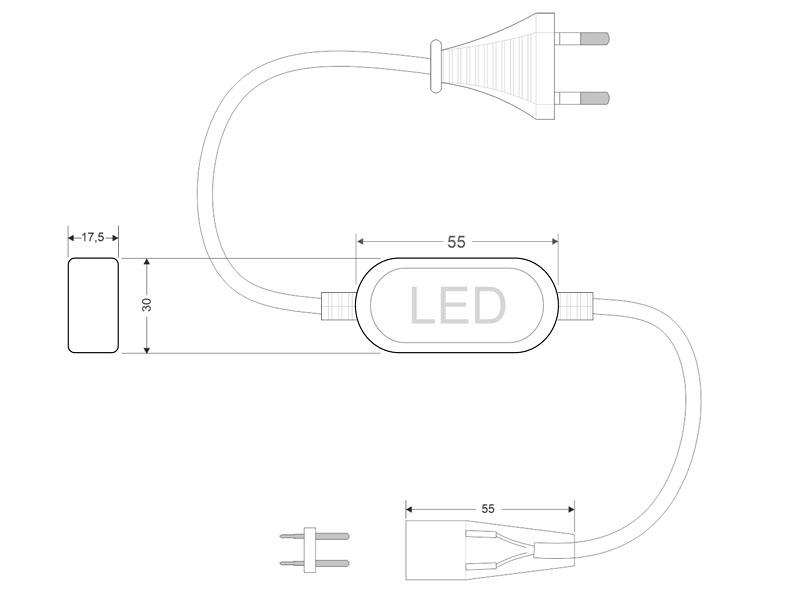 Alimentador para tira led 220V-SMD2835