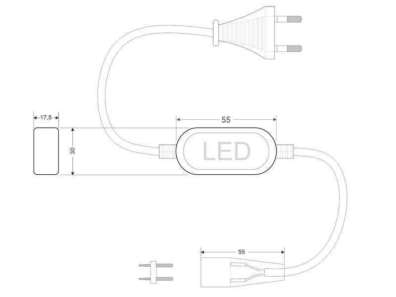 Tira LED 220V SMD2835, 60Led/m