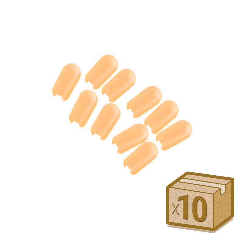 Tapa NEON silicona 6x12mm color ambar, interior, pack 10pcs