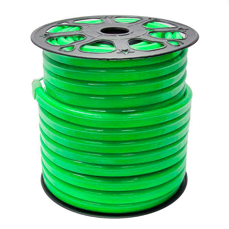 Led NEON Flex monocolor verde, 220V, 14x26mm, 1 metro
