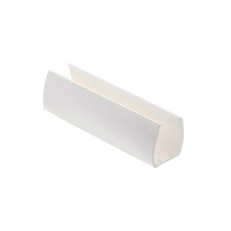 Clip PVC blanco Led NEON 5cm, 14x26mm