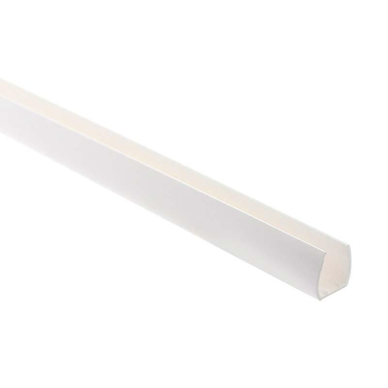 Carril PVC blanco para Led NEON 15,4x17mm, 1m