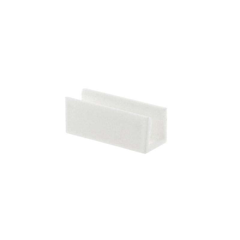 Clip PVC blanco Led NEON 3mm, 9x18mm