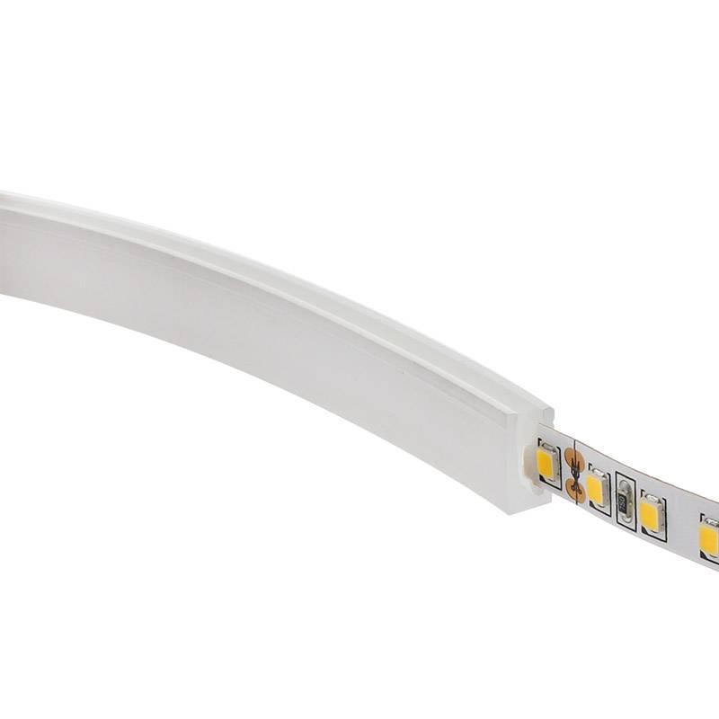 Tubo de silicone para fitas LED, 6x12mm, 1 metro