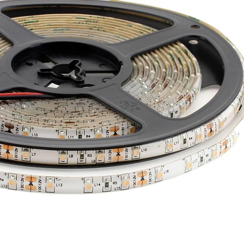 Tira LED SMD3528, DC12V, 5m (60 Led/m), ROSA - IP65