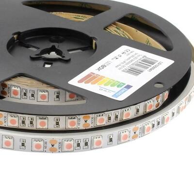 Tira LED SMD5050, DC12V, 5m (60 Led/m), ROSA - IP20, Rosa/Magenta