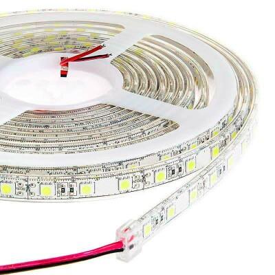 Tira LED Monocolor EPISTAR SMD5050, DC24V CC, 5m (60 Led/m) - Sensor Temperatura - IP20, Blanco frío