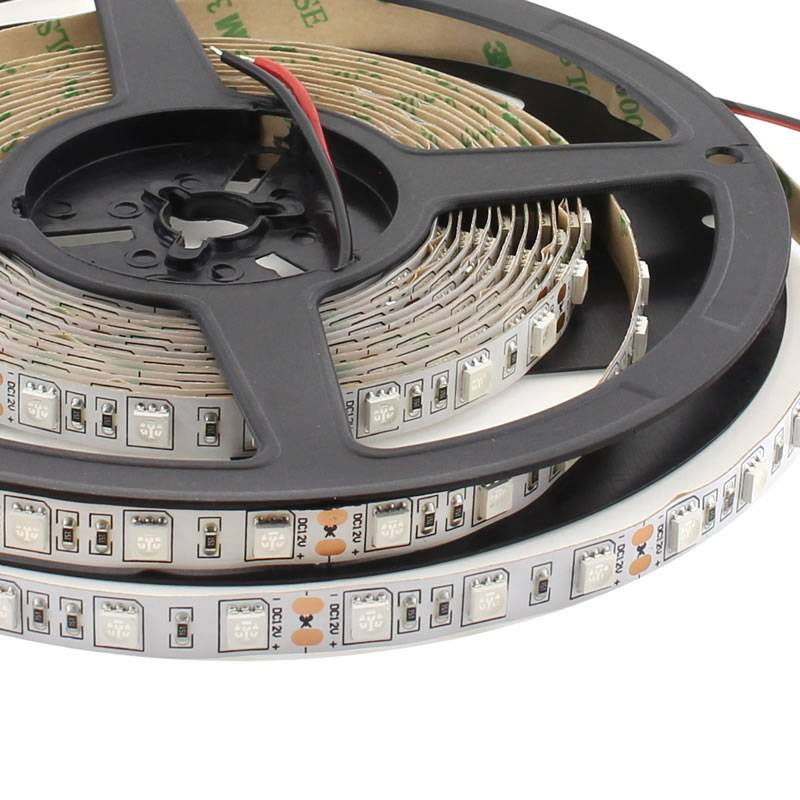 Tira LED UV Ultravioleta SMD5050, DC12V, 5m (60 Led/m) - IP20
