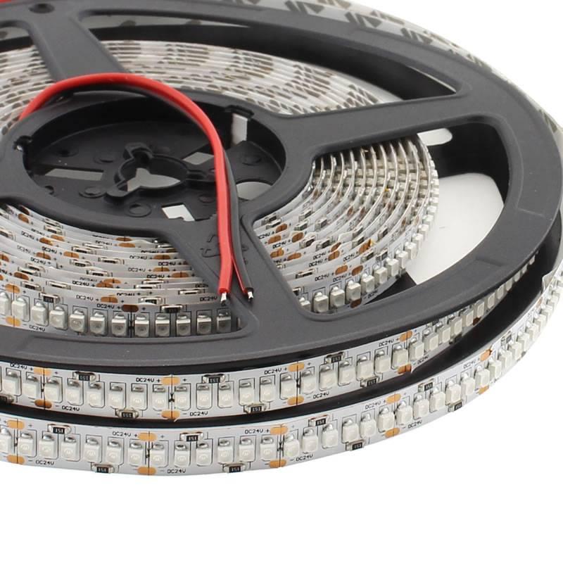 Tira LED UV Ultravioleta SMD3528, DC24V, 5m (240 Led/m) - IP20