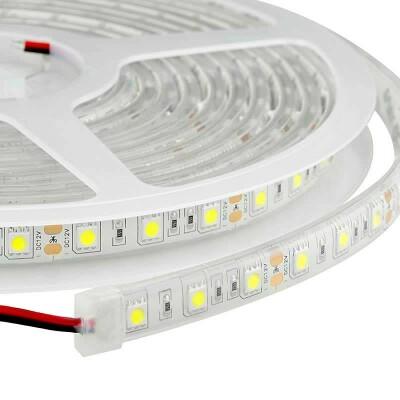 Tira LED Monocolor EPISTAR SMD5050, DC24V CC, 5m (60 Led/m) - Sensor Temperatura - IP67, Blanco cálido