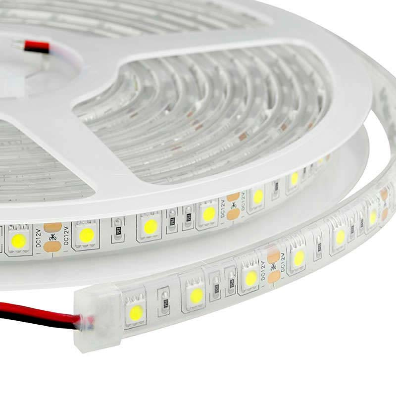 Tira LED Monocolor EPISTAR SMD5050, DC24V CC, 5m (60 Led/m) - Sensor Temperatura - IP67