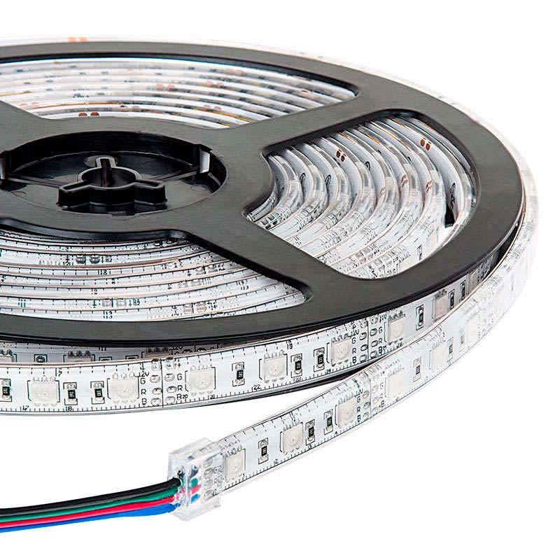 Tira LED EPISTAR SMD5050, RGB, DC24V CC, 5m (60Led/m) - Sensor Temperatura -IP67